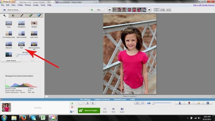 How to watermark photos in Picasa