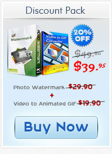 Buy photo watermark + animated gif pack save $10