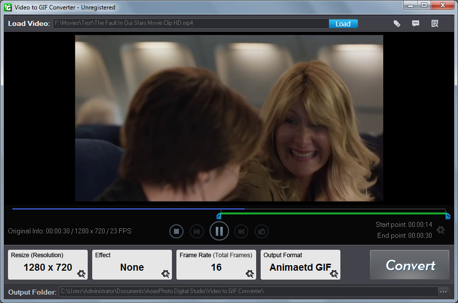 Click to view Aoao Video to GIF Converter screenshots