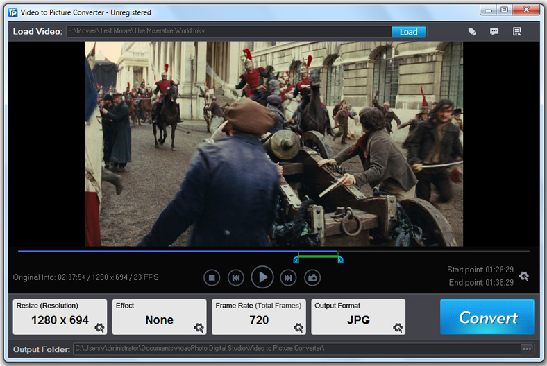 Aoao Video to Picture Converter Screen shot